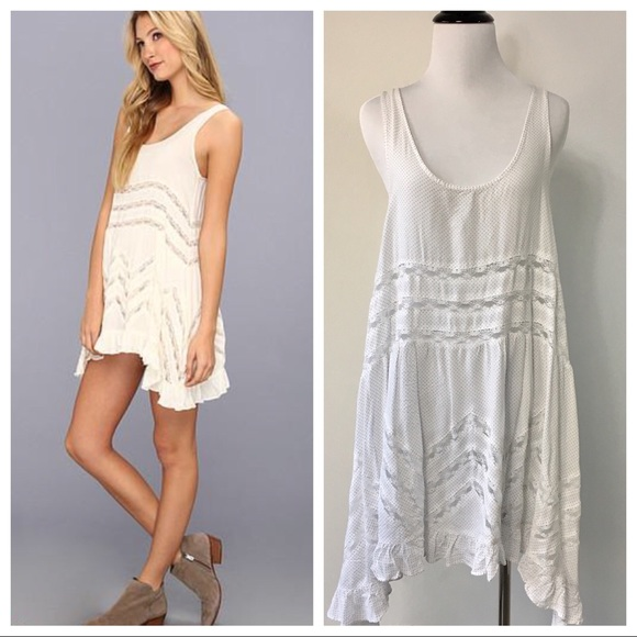 0bba4940df24 Free People Dresses   Skirts - Free People Voile   Lace Trapeze Slip Dress  ...